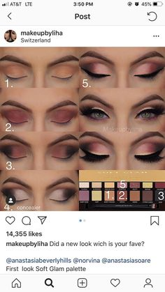 "Also not mine! Look by Liha History of eye makeup ""Eye care"", put simply, ""eye Glam Makeup, Makeup Geek, Makeup Inspo, Eyeshadow Makeup, Makeup Inspiration, Eyeliner, Beauty Makeup, Hair Makeup, Makeup Eye Looks"
