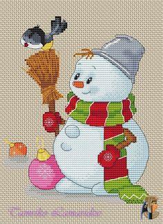 Gallery.ru / Снеговик с птичкой - Все,чтобы встретить Новый год - tamriko-lamara