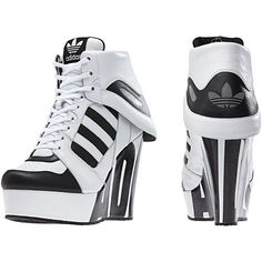 adidas - Streetball Platform Shoes in 2020 Sneaker High Heels, Nike High Heels, Platform High Heels, Black Platform, Sneakers Mode, Wedge Sneakers, Sneakers Fashion, Fashion Shoes