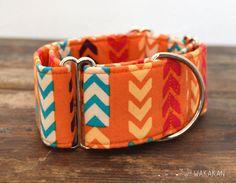 Martingale dog collar model Arrows. Adjustable and por Wakakan