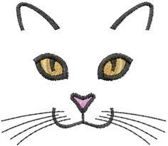 cat embroidery patterns   Machine Embroidery Downloads: Designs & Digitizing Services from ...