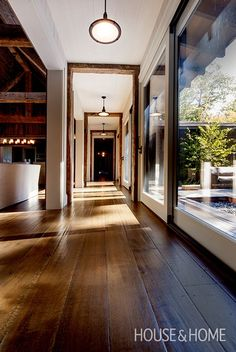 Striking Cottage Hallway With Reclaimed Beams | Photo Gallery: Ray Murakami's Favourite Projects | House & Home | Photo by Daniel Weylie