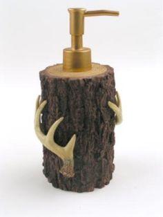 Deer Antler tree bark themed Soap Dispenser lotion pump by York Wallcovering, http://www.amazon.com/dp/B0012BSX8C/ref=cm_sw_r_pi_dp_sRbkrb1537NYR