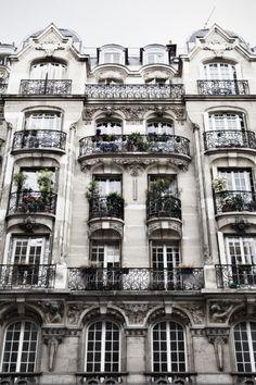 Paris apartment building exterior