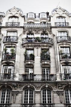 Paris apartment building exterior
