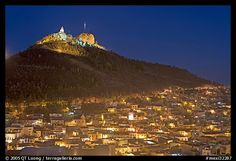 Cerro de la Bufa and town at night. Zacatecas, Mexico! Amazing experience with the fam! =)