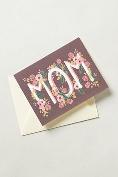 Mother's Day CArd | Typography & Floral