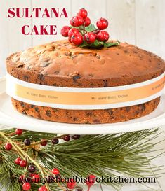Sultana Cake, so named because sultana raisins are a key ingredient, is a lovely moist cake that is a cross between a warcake and a fruitcake. Baking Recipes, Cake Recipes, Dessert Recipes, Dessert Ideas, Sultana Cake, Glazed Cherries, Quick Cake, Christmas Treats, Christmas Baking