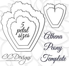 Large Athena paper peony templates. Printable PDF templates. PLEASE READ FULL DESCRIPTION. THANK YOU.  This listing includes: THIS IS FOR PDF PRINTABLES ONLY  ♥ 1 Athena style paper peony template as shown with leaf in PDF format. (Instant download) ♥ Video tutorial for building