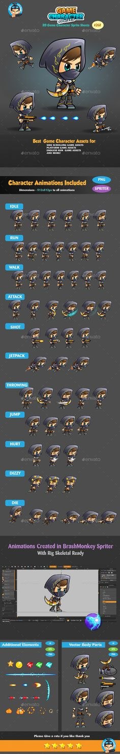 Assassin 2D Game Character Sprites 268 Download here: https://graphicriver.net/item/assassin-2d-game-character-sprites-268/18532354?ref=KlitVogli