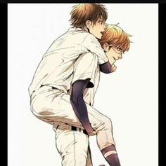 my otp *-* Diamond No Ace, Miyuki Kazuya, Kurotsuki, Handsome Anime Guys, Anime Life, Poses, Fujoshi, Manga Anime, Ships