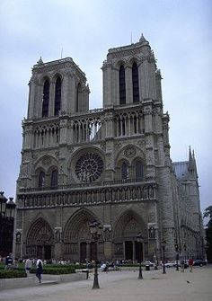 History of Gothic Architecture : Cathedral, Paris No.1. Notre Dame