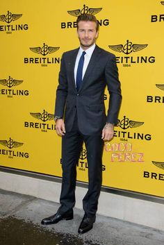 David Beckham Heats Up The Breitling London Store Opening