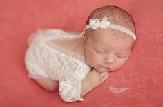 Lace Romper Newborn Photo Prop Baby Girl Outfit Newborn
