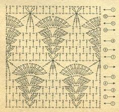 pretty vintage crochet lace stitch pattern chart