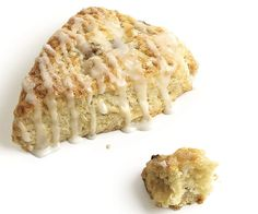 Lemon-Glazed Banana Scones with Crystallized Ginger recipe. #food # ...