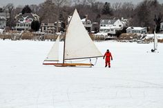 Ice Boats on the Navesink River