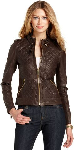 Quilted Leather Motorcycle - Lyst