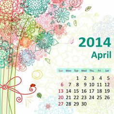 2014 Calendar. all Months [12 JPEGs]