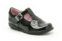 Girls Shoes - Ella Shine Fst in Black Patent from Clarks shoes
