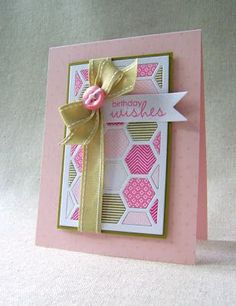Papertrey Ink - Cover Plate: Hexagon Die: Papertrey Ink Clear Stamps Dies Paper Ink Kits Ribbon