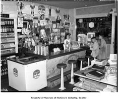 Carnation soda fountain at 3425 East Denny, Seattle, ca. 1942