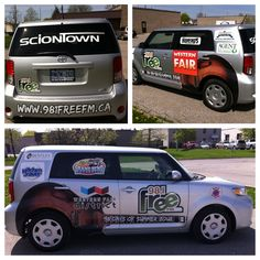 More great vehicle wraps done by Speedpro Imaging London Ontario!  Great collage of the FreeFM Scion!