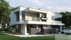 Two storey house in modern style with usable area House with a large garage. Minimum size of a plot needed for building a house is m. Gas Boiler, Balcony Doors, Two Storey House, Interior Walls, Home Fashion, Ground Floor, Home Projects, Building A House, Architecture Design