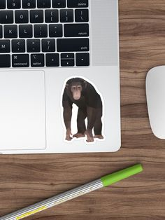 Bring out your wild side with our geometric chimp print. Geometric Animal, Polaroid Film, Stickers, Artwork, Animals, Work Of Art, Animales, Auguste Rodin Artwork, Animaux