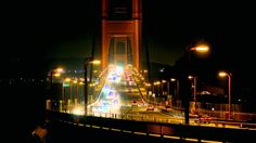 Traffic on bridge at Night #YcVideos