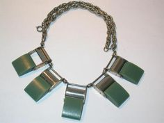 Art Deco Jakob Bengel Galalith Necklace 1931