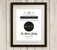 Digital Download Believe in Allah's Ability by LittleWingsGallery, $6.00