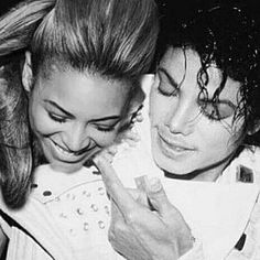 Beyoncé & Michael Jackson  (I hate photoshopped photos; she was not in captain EO)