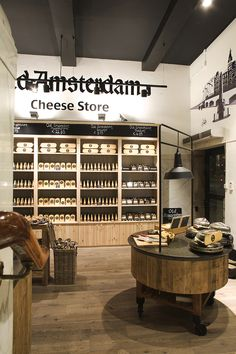 © studiomfd, cheese store, cheese cabinet, cheese counter, old amsterdam, dam square, Amsterdam, Dutch (www.studiomfd.com)