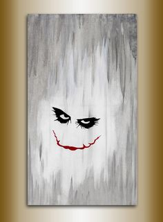 joker painting original acrylic on canvas 70 x 40 batman by Michel Marchesi