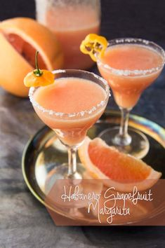 Grapefruit Habanero Margarita   Habanero tequila makes this margarita interesting! Spicy sweet margaritas! @forageddish