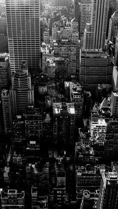 Black White Cityscape iPhone 5 Wallpaper