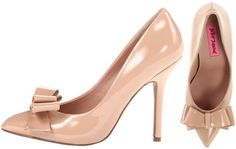 Betsey Johnson Remixx Reload Nude Pumps w/bow
