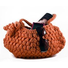 AllFreeCrochet: Pretty Puff Stitch Purse - Free crochet pattern from Premier Yarns.