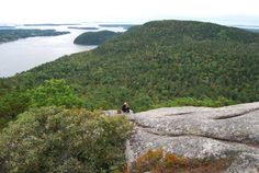 Somes Sound entrance view from Acadia Mountain