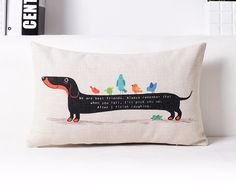 Love Dachshunds? Get this custom cushion,click here