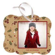 Jolly Berries - Holiday Greeting Die Cut Bracket Card in Milk or Black | Petite Alma