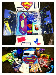 Superhero care package.