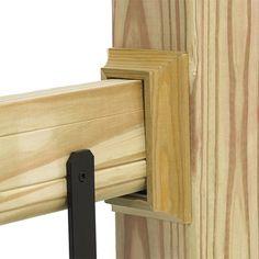 deckorail pressure treated wood rail trim installed