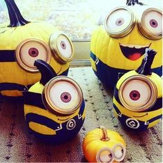 No carve halloween Pumpkin ideas -The Minions one