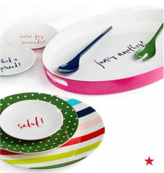 "For the entertainer on your list…something from the kate spade new york ""Salut!"" Collection."