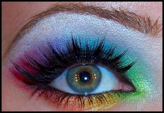 gorgeous rainbow eyes