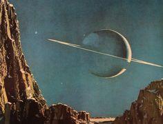 Vintage Saturn Print.