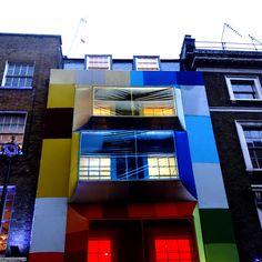 19th Greek Street Facade Studio Aisslinger #architecture #color | MocoLoco