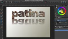 how to fill fonts with textures in Affinity Designer